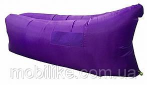 Надувний матрац-гамак Ламзак Original 2,2 м. Фіолетовий + Сумка