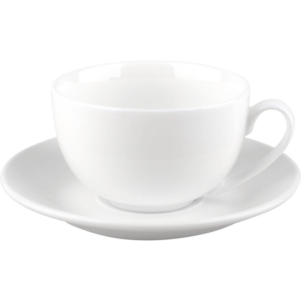 Чашка з блюдцем для чаю Wilmax 250 мл WL-993000/AB