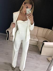 Шикарный женский комплект комбинезон и пиджак