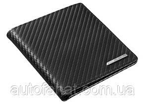 Кожаный футляр для кредитных карт Mercedes-Benz Credit Card Wallet, AMG, Black, Carbon Leather (B66954552)