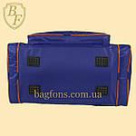 Дорожная спортивная сумка синяя  EVERLAST -40л., фото 2