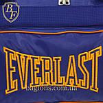 Дорожная спортивная сумка синяя  EVERLAST -40л., фото 4
