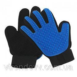 Перчатка для вычесывания шерсти у животных True Touch Original