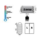 Спальний мішок-ковдра Tramp Balaton (лівий). Спальник ковдра. Туристический спальник, фото 2