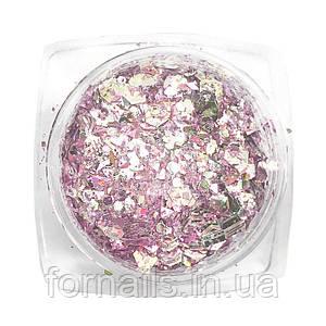 Komilfo блесточки MIX chameleon 005, микс размеров, (розовый/желтый/зеленый), 1,5 г