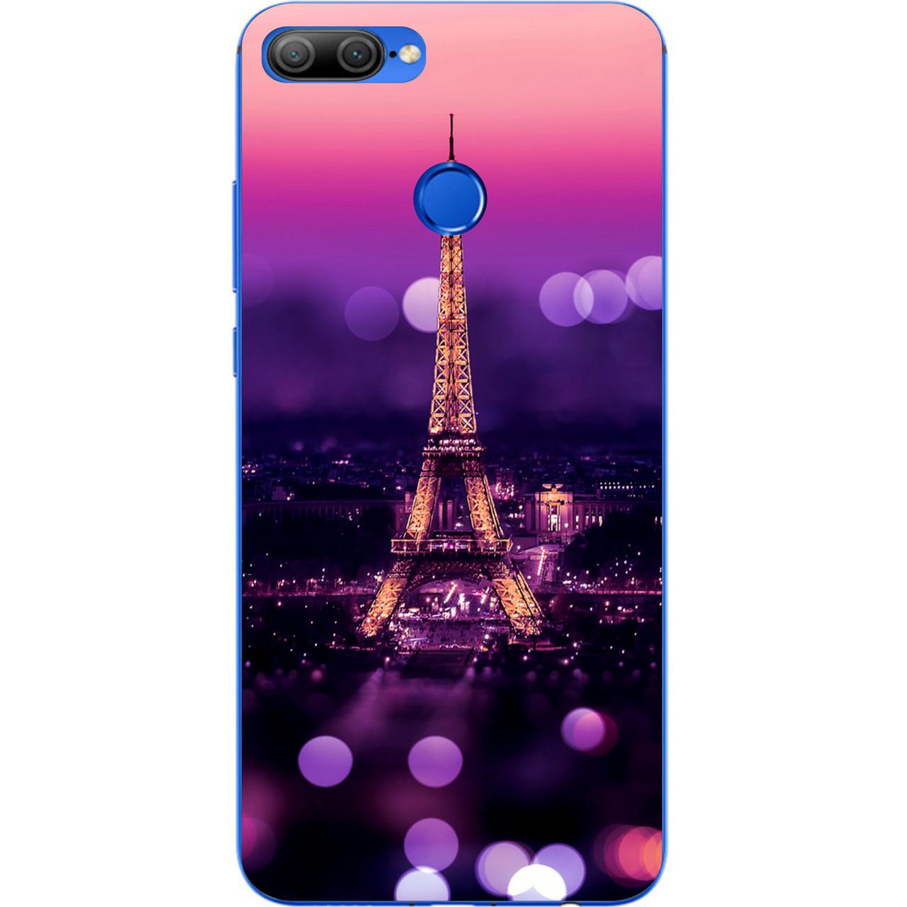 Чехол силиконовый для Huawei honor 9 lite с картинкой Париж ночью