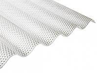 Прозрачный кровельный ПВХ лист Salux Prisma 76/18 2,5х1,03 м., прозрачная волна