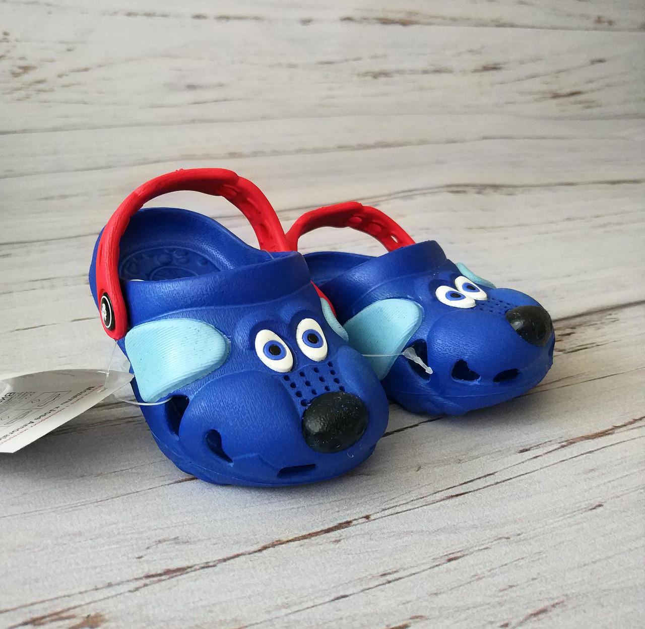 Кроксы синие собачки, пляжная обувь, сабо Jose Amorales