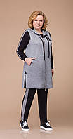 Спортивная одежда Svetlana Style-1212 белорусский трикотаж, черный+серый, 56