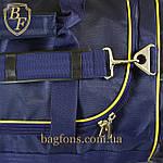 Дорожная спортивная сумка синяя  EVERLAST -75л., фото 5