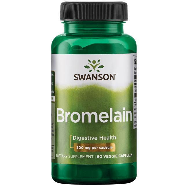 Бромелайн Bromelain 1,200 GDU натуральный из ананаса 500 мг 60 капс
