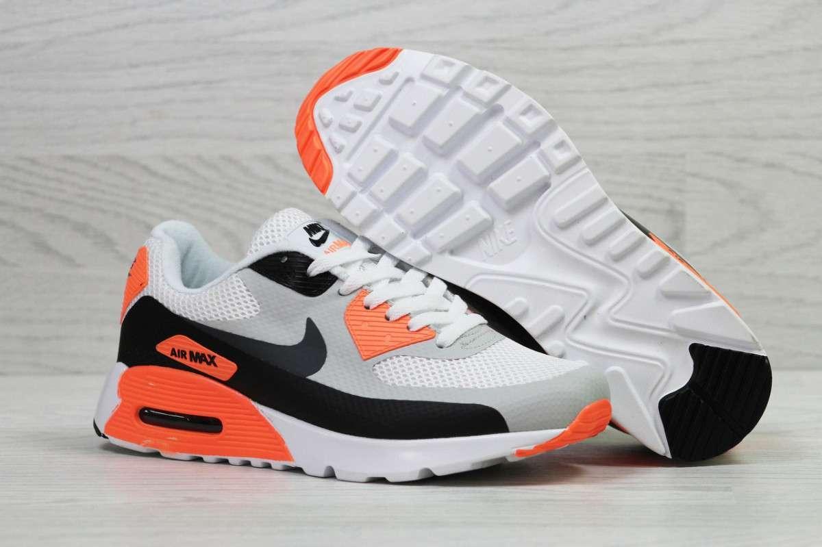 Кроссовки мужские белые с оранжевым Nike Air Max 5497