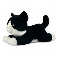 AURORA Мягкая игрушка котенок черно-белый 25 см