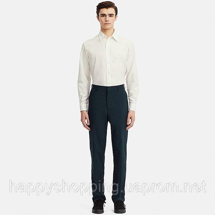Мужские темно-синие зауженные брюки Uniqlo