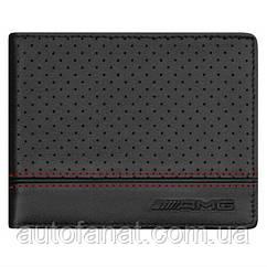 Оригинальный кожаный кошелек Mercedes-Benz AMG Wallet, Black Lambskin, Restyle (B66953227)