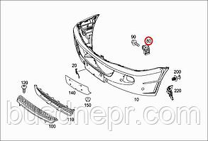Кронштейн крепления бампера переднего   Левое  MB Sprinter/Crafter (906) 06 -