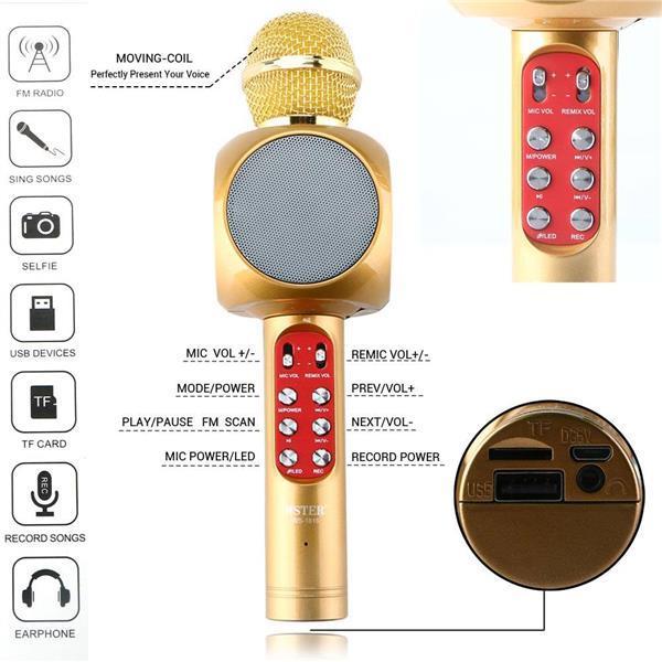 Беспроводной Bluetooth караоке микрофон колонка Karaoke WS-1816