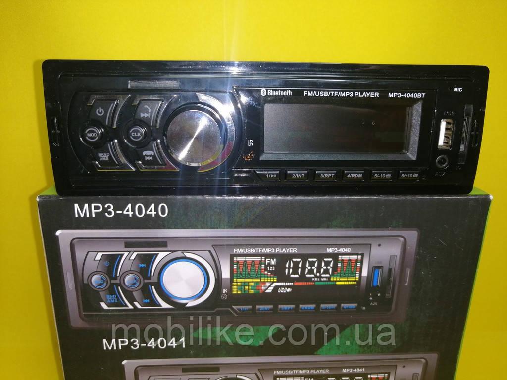 Магнитола для машины MP3 4040BT FM/USB/TF