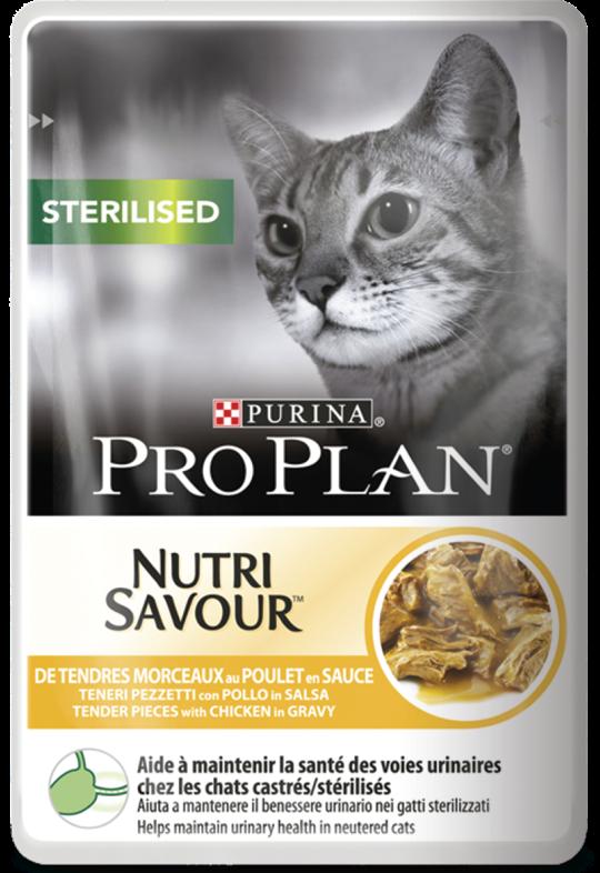 Pro Plan Sterilised - консервы Про План с курицей для кошек 24шт*85г