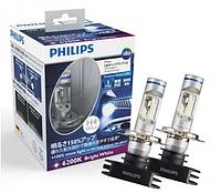 Автолампы PHILIPS LED H4 X-treme Ultinon +150%  6200K 12V