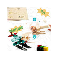 ROBOTIME 3D Painting Puzzle Hydroplane / Конструтор-раскраска Гидроплан