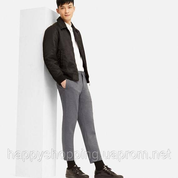Мужские стильные  серые укороченные брюки  Uniqlo