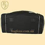 Дорожная спортивная сумка  NIKE черная с серым -30л., фото 3