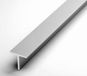 Тавр алюминиевый Braz Line 40х20х2.0 мм анод серебро 1 м