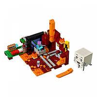Конструктор LEGO MINECRAFT Портал в Нижний мир