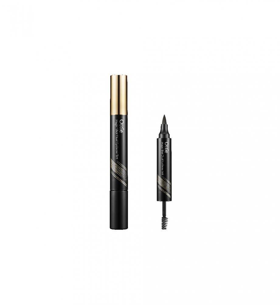 Тушь и тату-маркер для бровей Ottie Magic Shot Dual Eyebrow Tint 2,5 г+4,5 г