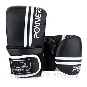 Снарядні рукавички PowerPlay 3025 Чорно-Білі M
