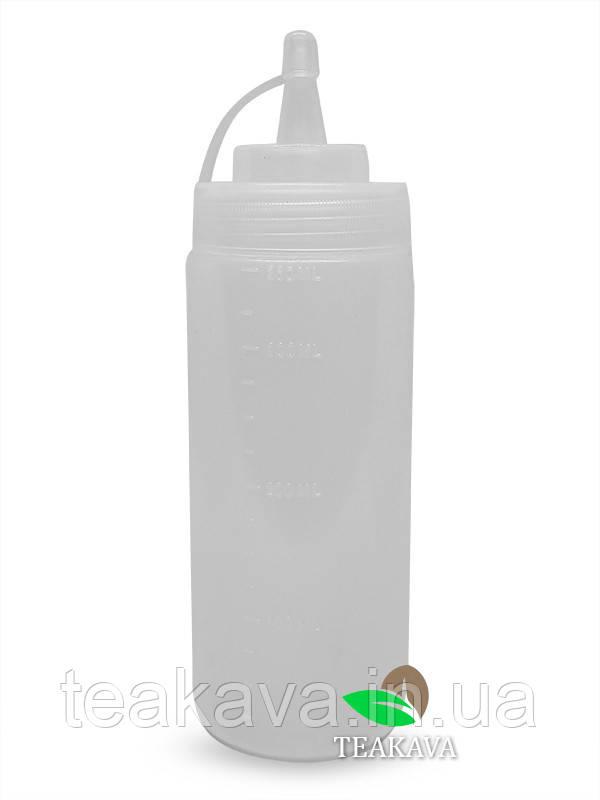 Бутылка с носиком, 600 мл (соусник, диспенсер, дозатор)