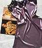 Женский атласный пеньюар темная пудра, фото 2