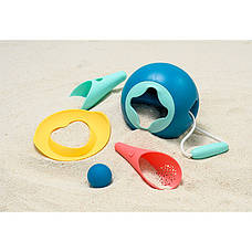 Набір для пляжу (міні ведерко+совочки+чарівна формочка+сумка) QUUT 170983, фото 3