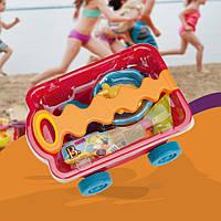 BATTAT Набор для игры с песком и водой - ТЕЛЕЖКА МАНГО (11 предметов)