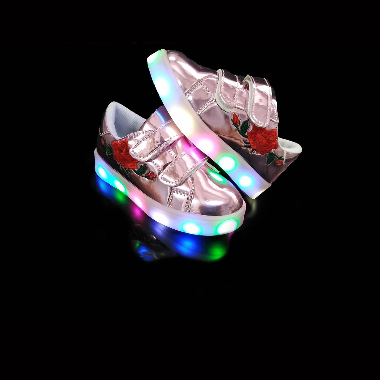 Кроссовки с подсветкой детские Pink A25