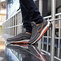 Кроссовки женские Nike Air Max 97 в стиле Найк Аир Макс, натуральная кожа, текстиль код DK-1084. Серый