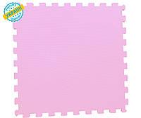 """Мягкий пол (коврик-пазл 50*50*1 см) Eva-Line """"Веселка"""" розовый"""