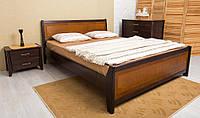 Кровать с изножьем Сити 160-200 см Интарсия (Светлый орех/Темный орех)