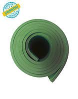 Коврик (каремат) 200*70*0.6 см для туризма и спорта Eva-Line двухсторонний зеленый