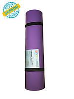 Коврик (каремат) 200*70*0.6 см для туризма и спорта Eva-Line двухсторонний фиолетовый