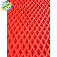 EVA материал для автоковриков (ЭВА листы) 2000*1200 мм красный Eva-Line ромб