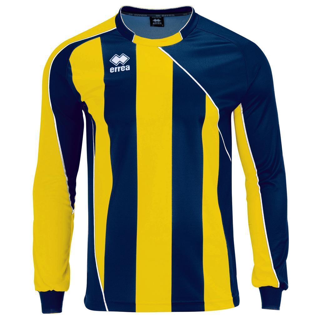Футболка Errea HOVE L/S S нави/желтый/белый (D110L000348)