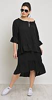 Платье Mali-499 белорусский трикотаж, черный, 44