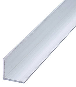 Куточок алюмінієвий Braz Line 10х10х1.0 мм анод срібло 1 м BLB-5505-10-0106.10 (уп - 10 шт)