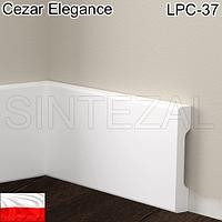 Прямоугольный плинтус Cezar Elegance LPC-37, 70х12 мм.