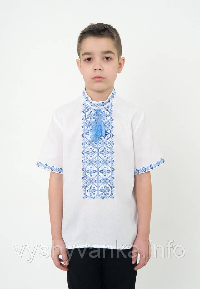 Хлопчача сорочка вишиванка з коротким рукавом