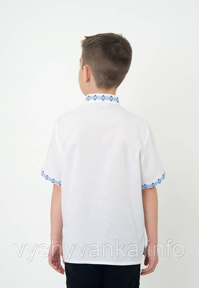 легка дитяча вишиванка короткий рукав