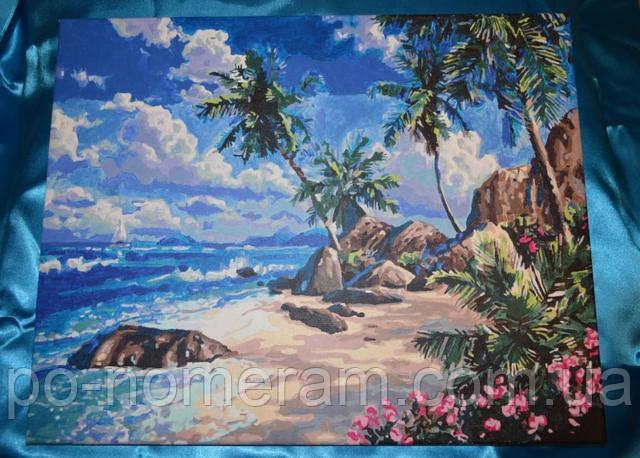 Раскраска для взрослых Идейка пляж
