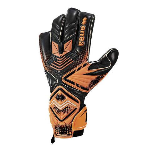 Вратарские перчатки Errea SPACE HYBRID 4 оранжевый флуо/черный (EA2X1Z04930), фото 2